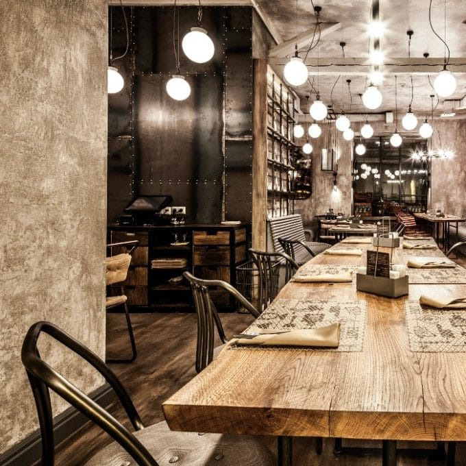 trainspotters lighting projects restaurant meatless moscow russia