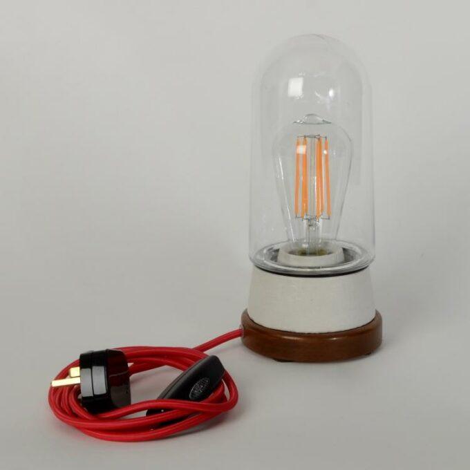 white tube desk lamp