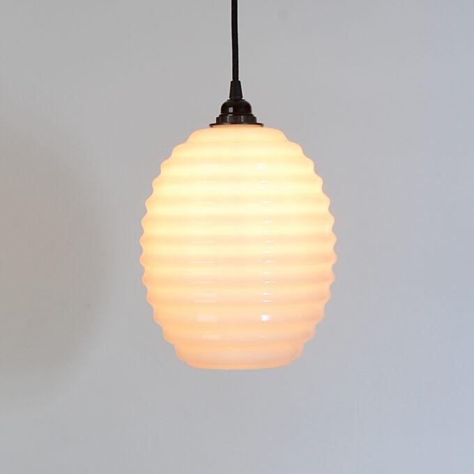 trainspotters lighting beehive opaline glass pendant