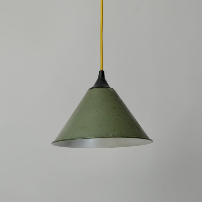 trainspotters lighting reclaimed vintage british army pendant sage green